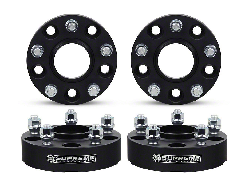 Supreme Suspensions 2 in. Pro Billet Hub & Wheel Centric Wheel Spacers - Set of Four (07-18 Jeep Wrangler JK)