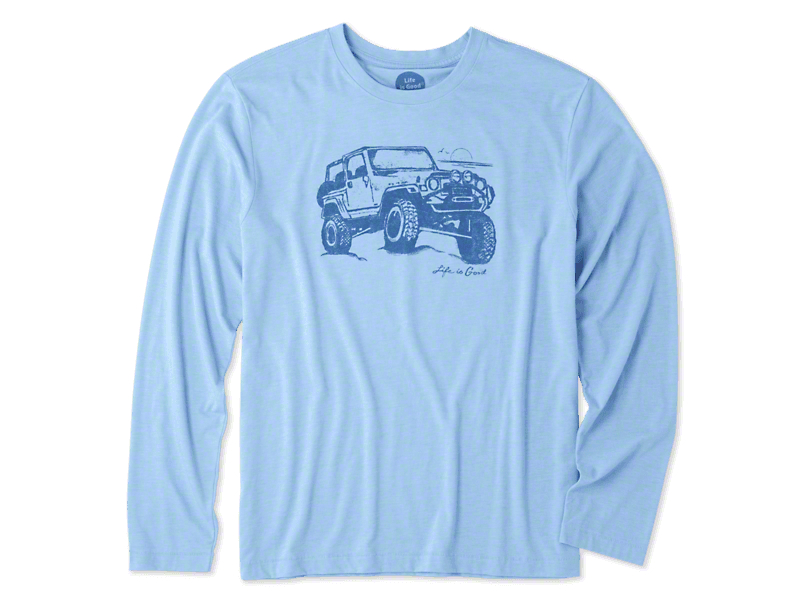 Life is Good Men's Off-Road Beach Long Sleeve Shirt