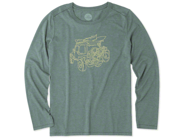 Life is Good Women's Outdoor Fun ATV Long Sleeve Shirt