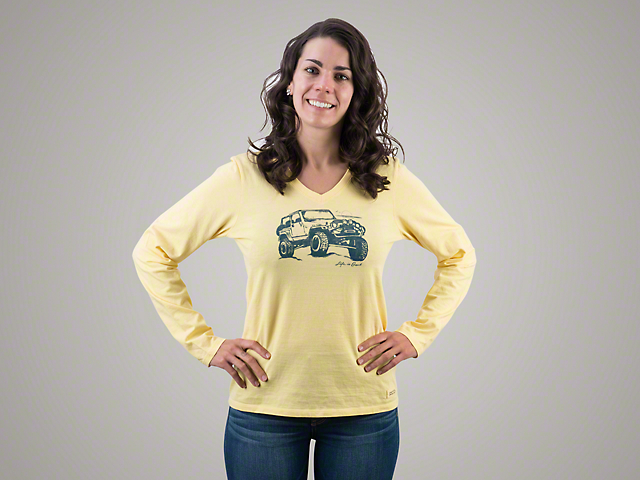Life is Good Women's Off-Road Beach Crusher Long Sleeve Shirt