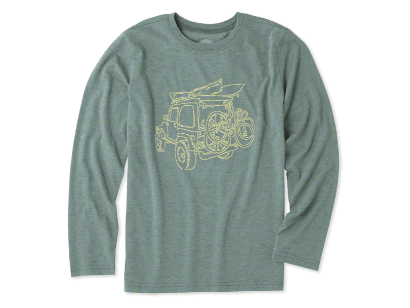 Life is Good Boys Off-Road Outdoor Long Sleeve Shirt