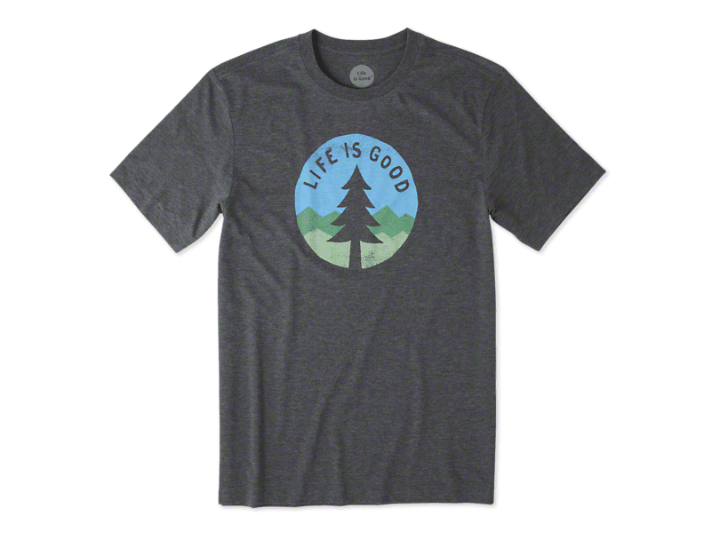Life is Good Men's Simple Pine Cool T-Shirt