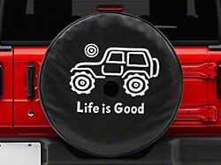 Life is Good Native Off-Road Spare Tire Cover; 32 Inch Tire Cover (18-20 Jeep Wrangler JL)