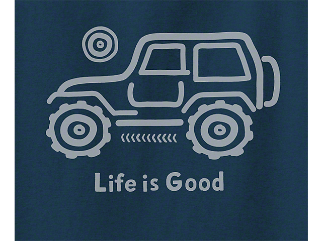 Life is Good Men's Native Jeep Hoodie - Blue