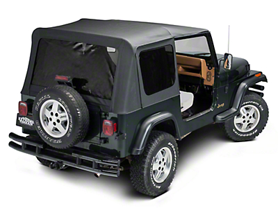 TruShield Complete Soft Top w/ Tinted Windows & Upper Doors - Black Diamond (87-95 Jeep Wrangler YJ)
