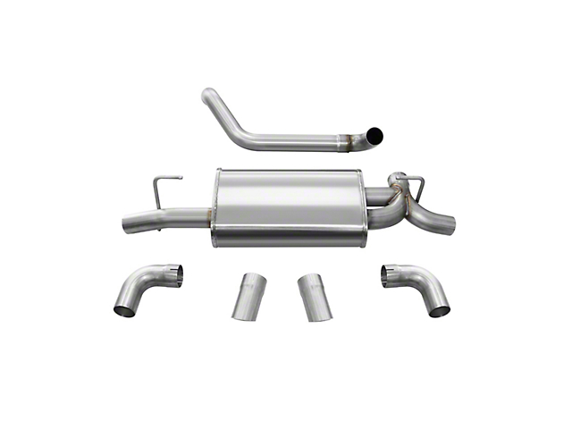 Corsa Sport Axle-Back Exhaust w/ Polished Turn Down Tips (18-20 3.6L Jeep Wrangler JL)