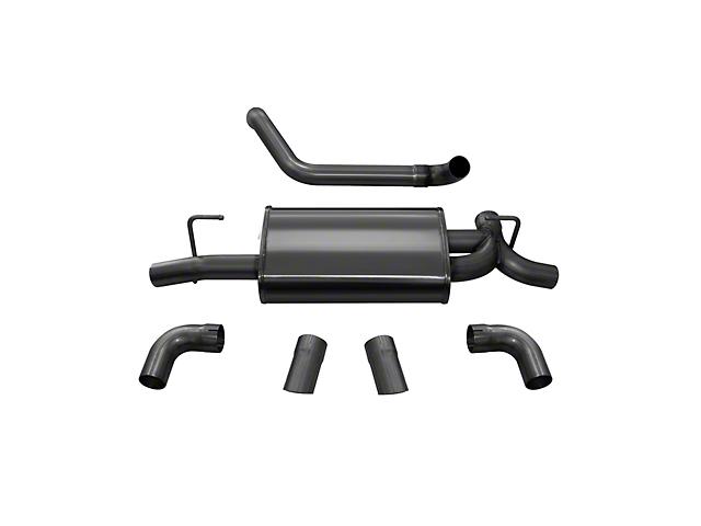 Corsa Sport Axle-Back Exhaust w/ Black Turn Down Tips (18-20 3.6L Jeep Wrangler JL)