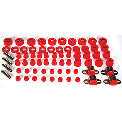 Rugged Ridge Polyurethane Bushing Kit - Red (87-95 Wrangler YJ)