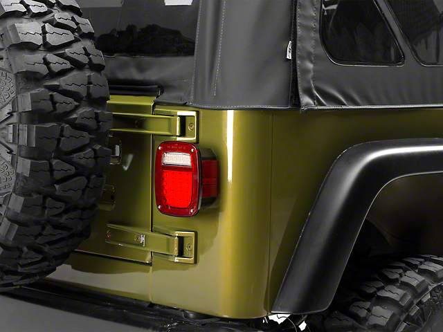 Rugged Ridge LED Tail Lights; Smoked (87-06 Jeep Wrangler YJ & TJ)