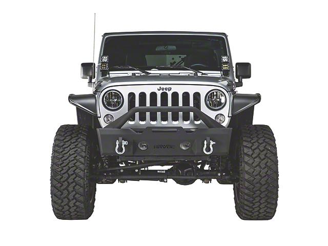 Havoc Offroad GEN 2 Metal Masher Stubby Front Bumper with Bull Bar (07-18 Jeep Wrangler JK)