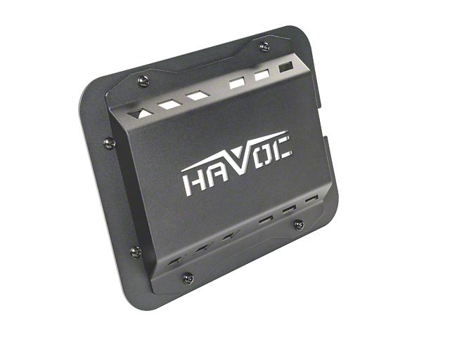 Havoc Offroad Eliminator Tailgate Plate - Black Aluminum (07-18 Jeep Wrangler JK)