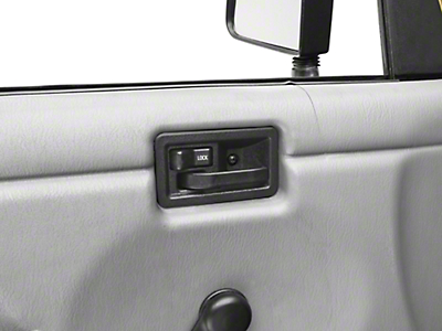 Omix-ADA Interior Door Handle - Left Side (87-06 Wrangler YJ & TJ)