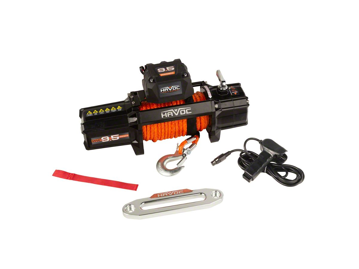 Havoc Offroad 9,500 lb  Winch w/ Synthetic Rope