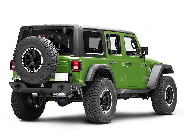 Deegan 38 Rear Bumper with Tire Carrier (18-21 Jeep Wrangler JL)