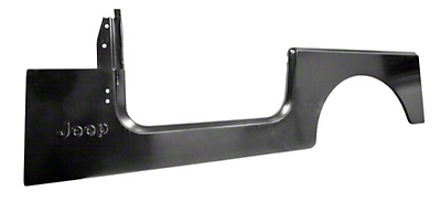 Omix-ADA Left Side Side Panel Stamped w/ Jeep Logo (87-95 Jeep Wrangler YJ)