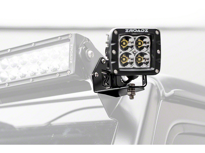 ZRoadz 3 in. LED Light Cube Roof Side Mounting Brackets (18-19 Jeep Wrangler JL)