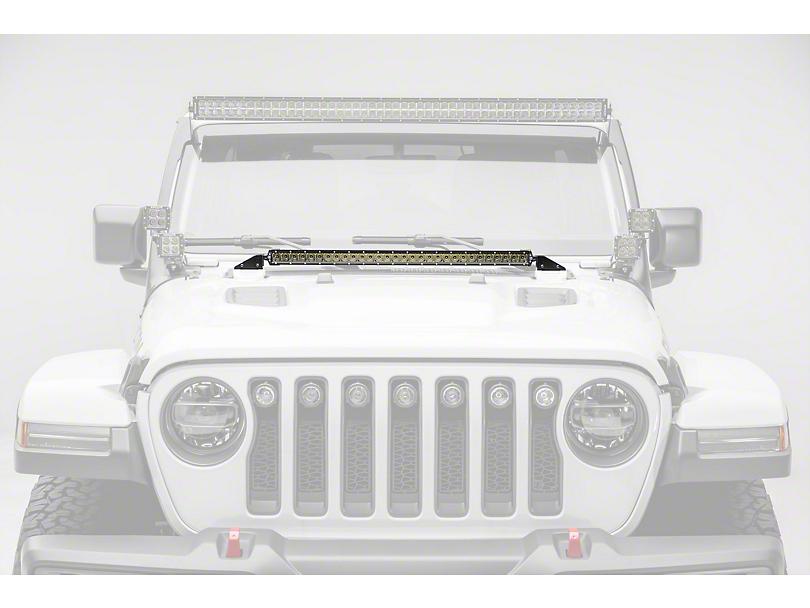 ZRoadz 30 in. LED Light Bar w/ Hood Cowl Mounting Brackets (18-19 Jeep Wrangler JL)