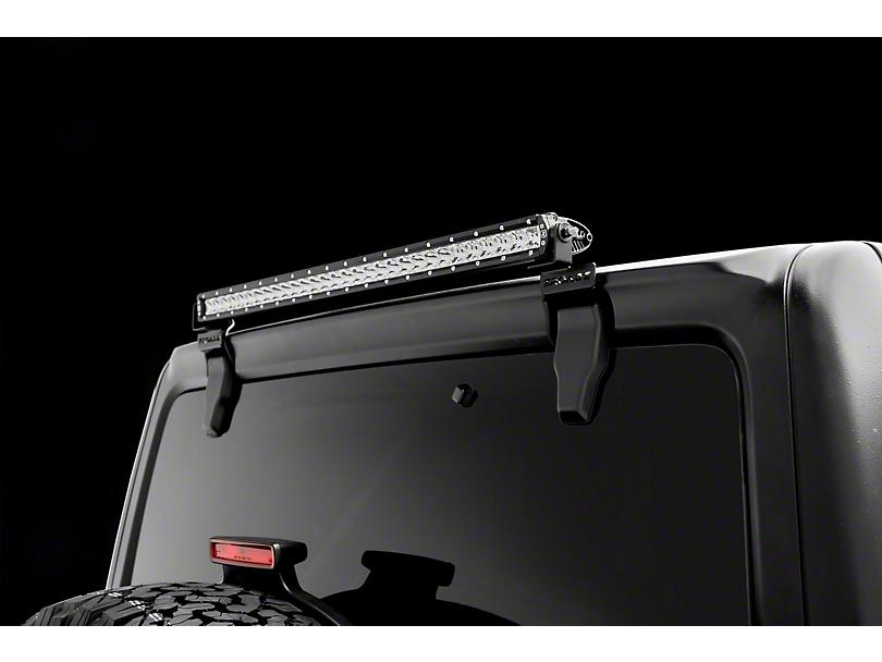 ZRoadz 30 in. Slim LED Light Bar w/ Rear Window Hinge Mounting Brackets (18-19 Jeep Wrangler JL)