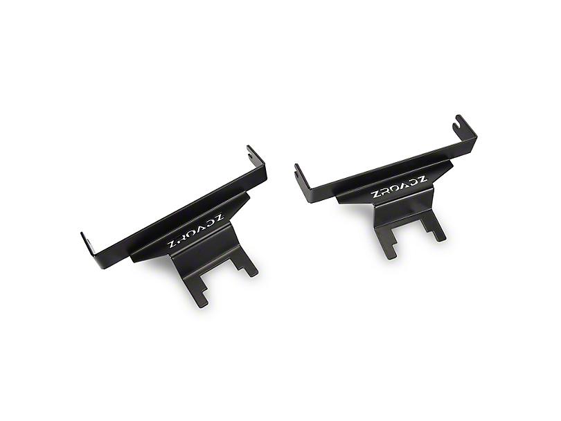 ZRoadz 6 in. LED Light Bar Rear Window Hinge Mounting Brackets (18-19 Jeep Wrangler JL)