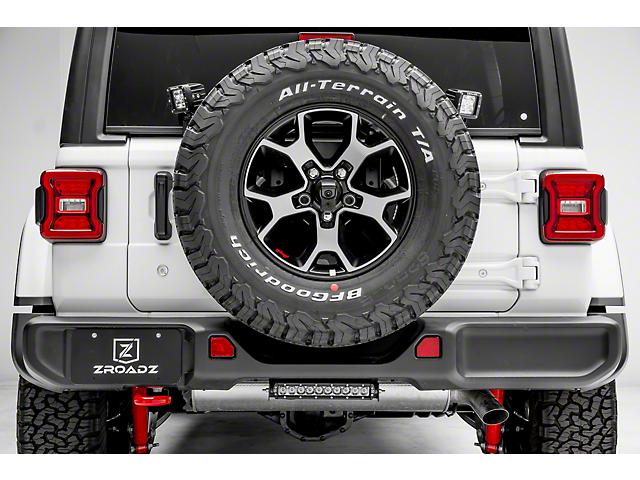 ZRoadz Two 3 in. LED Cube Lights w/ Spare Tire Mounting Brackets (18-19 Jeep Wrangler JL)
