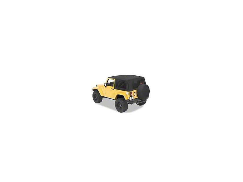 Bestop Trektop Pro Hybrid Soft Top - Pebble Twill (07-18 Jeep Wrangler JK 2 Door)