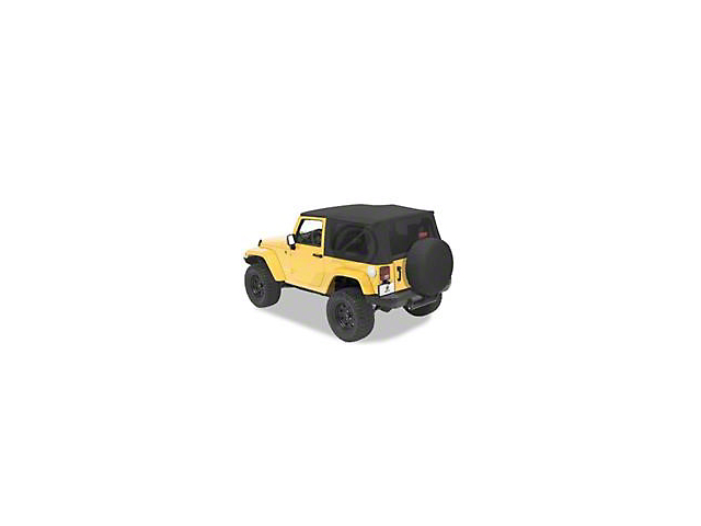 Bestop Trektop Pro Hybrid Soft Top - Gray Twill (07-18 Jeep Wrangler JK 4 Door)