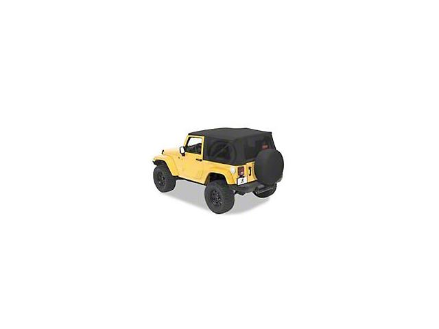 Bestop Trektop Pro Hybrid Soft Top - Pebble Twill (07-18 Jeep Wrangler JK 4 Door)