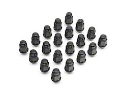 Coyote Black Acorn Lug Nut Kit; 3/4-Inch; Set of 20 (18-20 Jeep Wrangler JL)