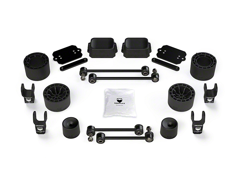 Teraflex 2.50-Inch Performance Spacer Lift Kit with Shock Extensions (18-20 Jeep Wrangler JL Rubicon 4 Door)