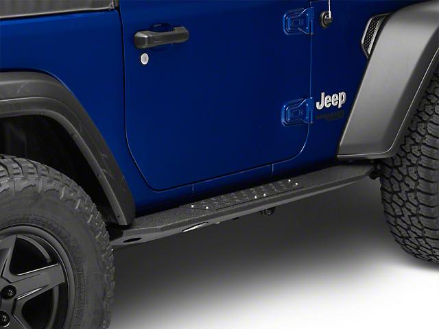 Deegan 38 Rock Sliders with LED Rock Lights (18-20 Jeep Wrangler JL 2 Door)