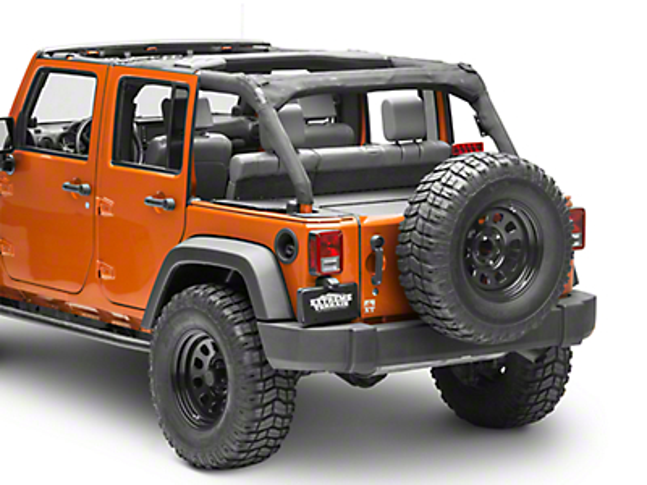 Aries Automotive Security Cargo Lid (11-18 Jeep Wrangler JK 4 Door)