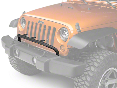 Rugged Ridge Front Bumper Mounted Light Bar - Textured Black (07-18 Jeep Wrangler JK)