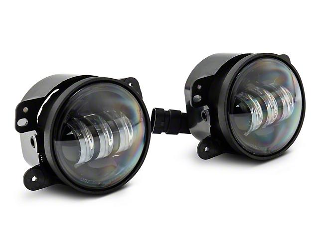 Axial Tri-Bar LED Fog Lights - White (07-18 Jeep Wrangler JK)