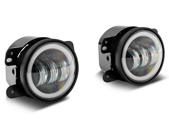 Axial Halo LED Fog Lights; White (07-18 Jeep Wrangler JK)