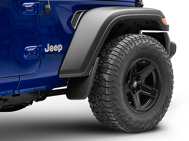 Husky Custom Molded Front Mud Guards (18-20 Jeep Wrangler JL, Excluding Rubicon)