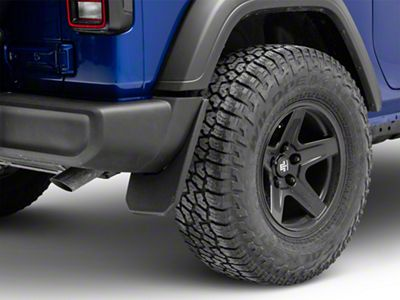 Husky Custom Molded Rear Mud Guards (18-19 Jeep Wrangler JL, Excluding Rubicon)