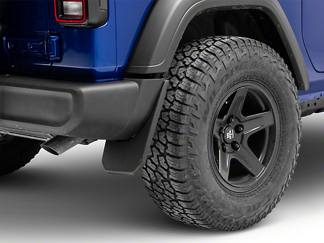 Husky Custom Molded Rear Mud Guards (18-20 Jeep Wrangler JL, Excluding Rubicon)
