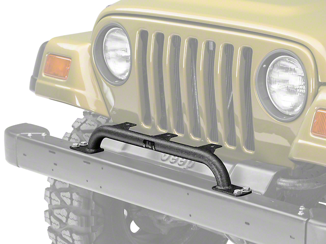 Rugged Ridge Front Bumper Mounted Light Bar - Textured Black (97-06 Jeep Wrangler TJ)