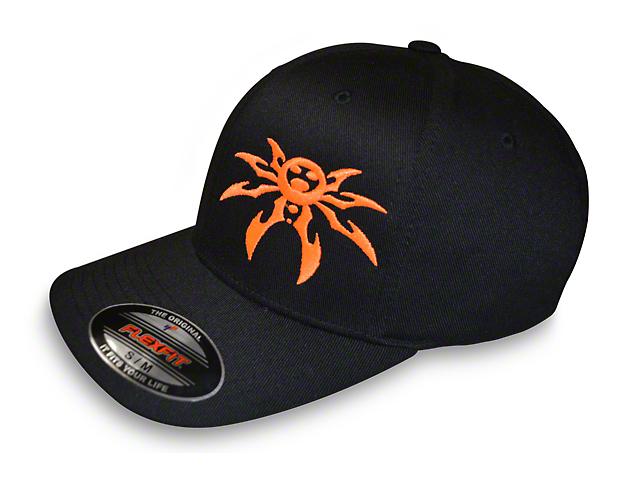 d0cdd88149 Poison Spyder Jeep Wrangler FlexFit Hat - Black   Orange J130852