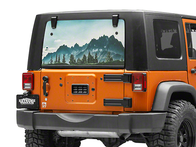 7d3e8ca5 Jeep Wrangler Perforated Lake Rear Window Decal (87-19 Jeep Wrangler YJ,  TJ, JK & JL)