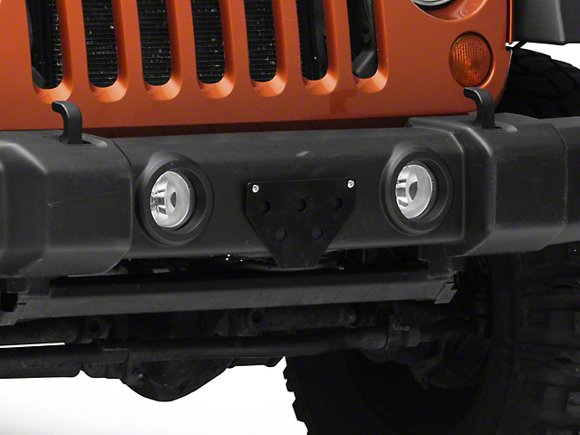 Sto N Sho Detachable Front License Plate Bracket for Plastic Bumpers (07-18 Jeep Wrangler JK)