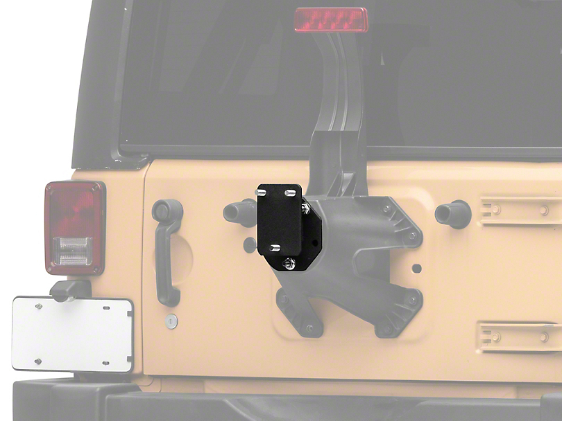 RedRock 4x4 Spare Tire Relocation Mounting Bracket (07-18 Jeep Wrangler JK)