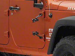 RedRock 4x4 Hi-Lift Jack Door Hinge Mounting Brackets (07-18 Jeep Wrangler JK)