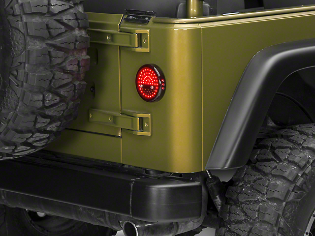 Jeep Wrangler Led Tail Lights >> Jeep Wrangler Litedots Led Tail Lights 87 06 Jeep Wrangler Yj Tj