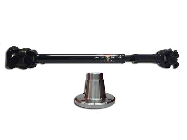 Adams Driveshaft Extreme Duty Series OEM Flange Style Front 1350 CV Driveshaft with Solid U-Joints (07-18 Jeep Wrangler JK)