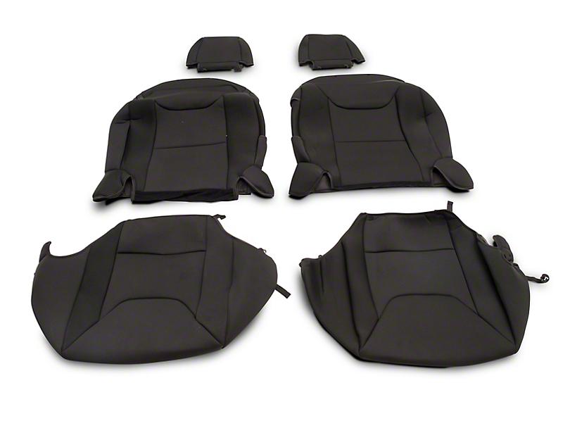 RedRock 4x4 Custom Fit Front Seat Covers - Black (13-18 Jeep Wrangler JK 2 Door)