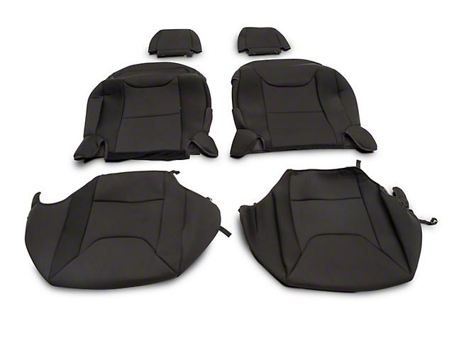 RedRock 4x4 Custom Fit Front Seat Covers; Black (13-18 Jeep Wrangler JK 2 Door)