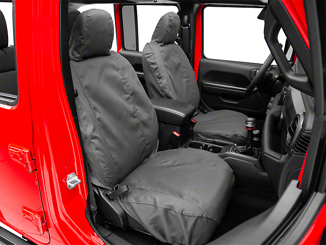 Covercraft SeatSaver Front Seat Covers; Charcoal (18-20 Jeep Wrangler JL 4 Door)