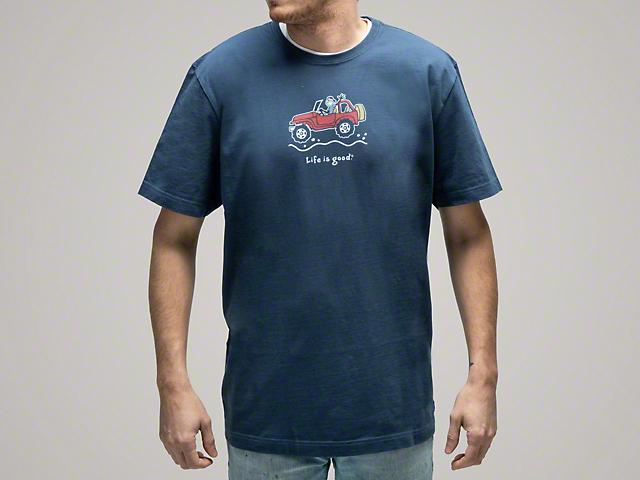 Life is Good Men's Offroad Jake T-shirt - Darkest Blue