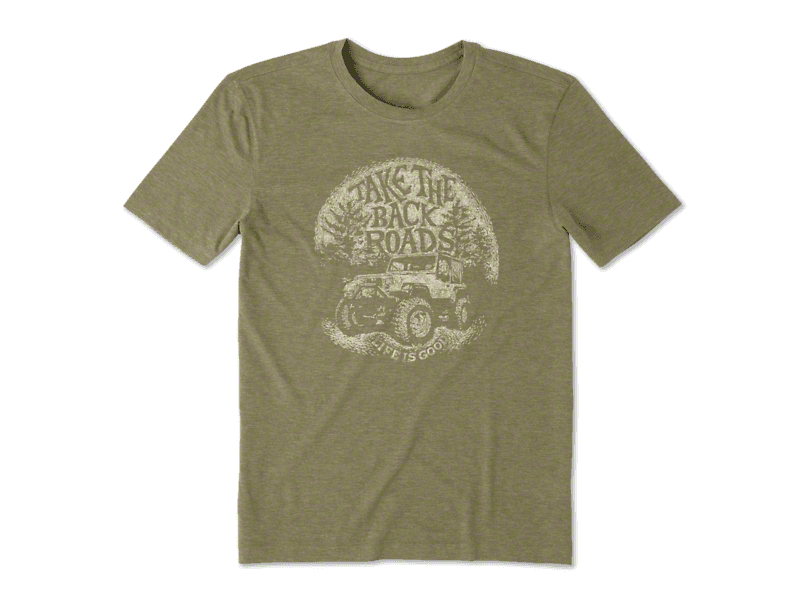 Life is Good Men's Take The Back Road T-Shirt - Forest Green